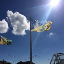 Flagge an der Seebrücke